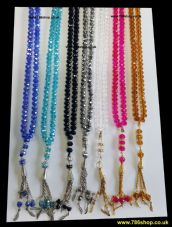 Large Crystal Tasbeeh with 100 Beads ( All Colours / Gift Islamic Selling ) NEW